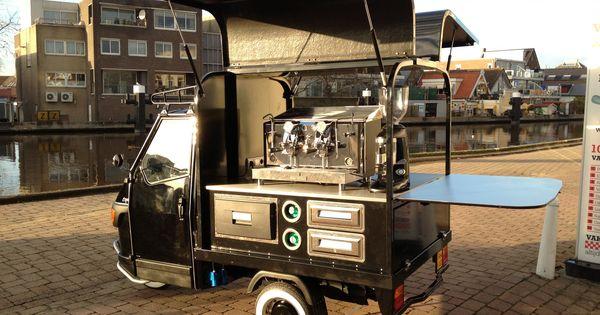 piaggio ape koffie food carts bikes pinterest. Black Bedroom Furniture Sets. Home Design Ideas