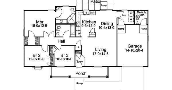 Basic 3 bedroom ranch floor plans thefloors co for Planimetrie di eplans