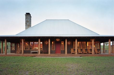 Log Cabin House With A Wrap Around Porch And A Hip Roof Barn House Plans Metal Building Homes Ranch House