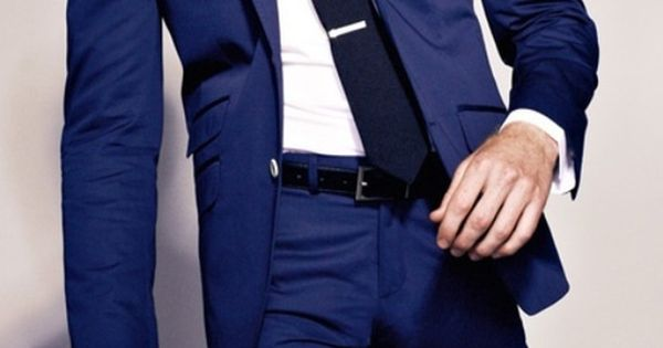 Blue suit i will have you one of these days. #style | See more about Blue Suits, Suits and Blue.