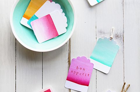 Fun DIY Watercolor Tags paper crafts DIY creative cards origami