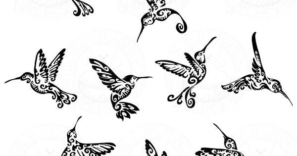 Hummingbird Tribal Tattoos if I got a tatt for my mom (say