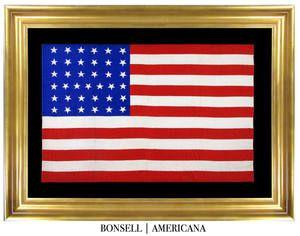 37 Star Antique American Flag With Tumbling Stars American Flag Flag Company Flag Maker