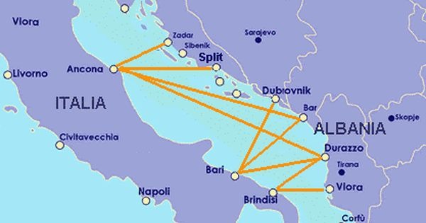 Ferry Routes From Italy To Eastern Europe Travel List Cycling Route Places To Travel