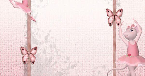 Angelina Ballerina Kit Completo com molduras para convites – Angelina Ballerina Birthday Invitations