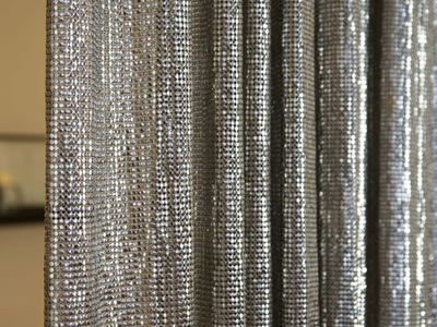 A Part Of Silver Scale Mesh Curtain Metal Mesh Drapery Metal