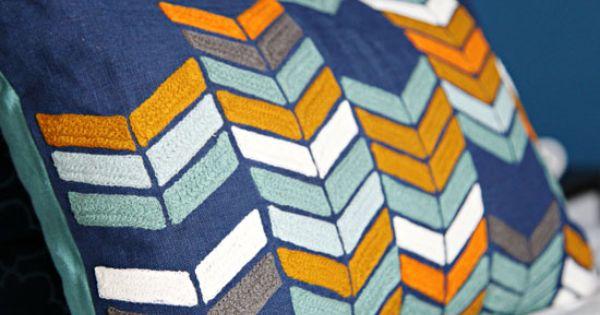 Gray White Navy Blue Teal Orange Home Pinterest
