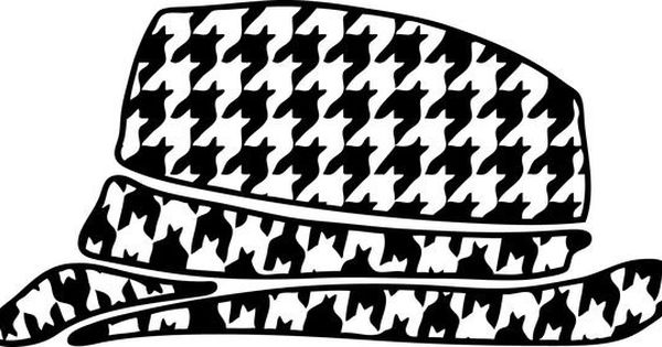 Houndstooth Hat Decal By Montgomeryhomedesign On Etsy I
