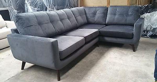 John Lewis Barbican Rhf Corner End Sofa Isabella Charcoal 2299 In Store Ebay Living Room Sofa Room Sofa Sofa