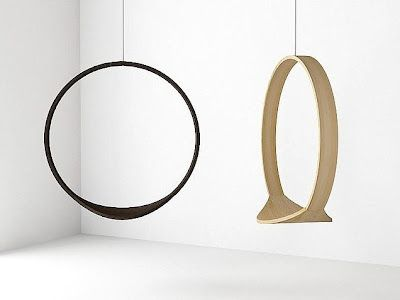beautiful swing chairs by Iwona Kosicka make in semi circle and other