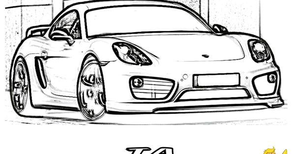 incredible car coloring pages  porsche cayman ta wide body
