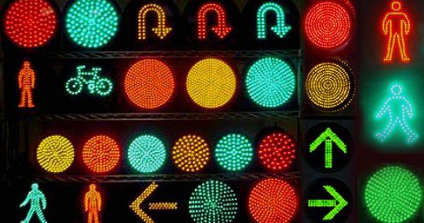 Led Traffic Lights Take To Taiwan Traffic Light Traffic Symbols Traffic