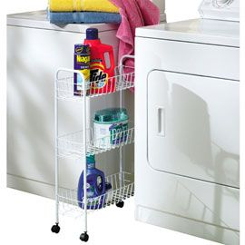 Declutter Your Laundry Room And Keep Products In Easy Reach With This Three Tier Rolling Cart With Images Laundry Room Storage Laundry Room Organization Room Storage Diy