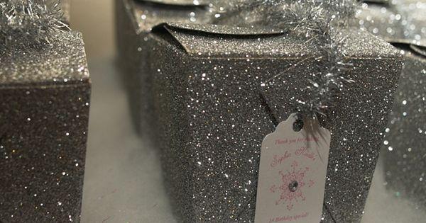 "Victoria birthday party Winter Wonderland goody ""bags"""