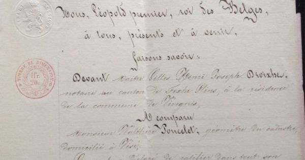 1863 Antique French Handwritten Legal Document On