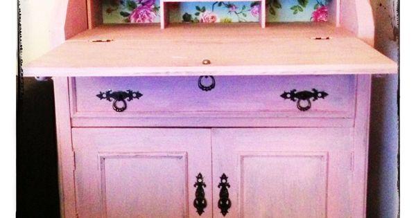 Vintage roze secretaire buikkast pinterest ontdek meer idee n over vintage roze roze en - Deco slaapkamer meisje roze ...