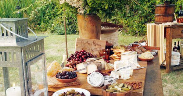 Summer Wedding Buffet Menu Ideas: Wedding Rehearsal Dinner, Outdoor Dinner, Buffet, Rustic