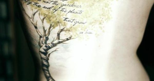 Very interesting tree tattoo