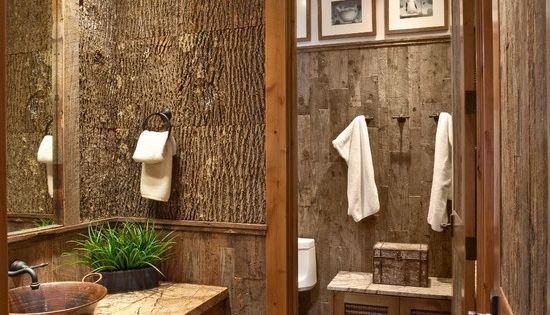 Rustic Home Decor | Rustic Home Decor / bathroom; alittle dark for