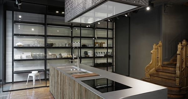 Galerie showroom boffi paris kitchens keukens pinterest keukens - Keuken m ilot centrale ...
