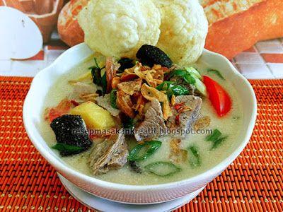 Resep Soto Daging Sapi Santan Khas Betawi Resep Masakan Resep Masakan