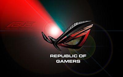 Republic Of Gamers Hd Wallpaper Dengan Gambar Logo Keren