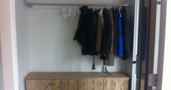 Kapstok huis pinterest kapstok schoenenkast en voor het huis - Deco entreehal ...