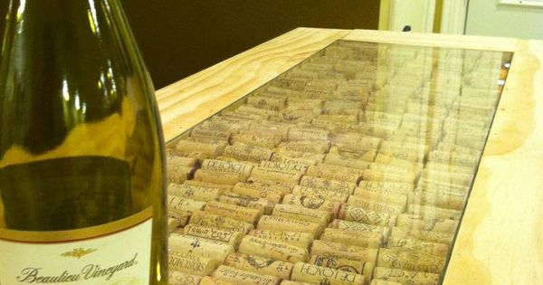 Need to do this project cool bar top using wine corks for Wine cork bar top