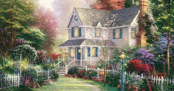 Casa de campo cuadro buscar con google cuadros casas - Paisajes de casas de campo ...