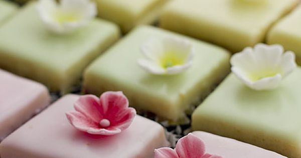 Nice Cake Recipes Uk: Nice Petits Fours. Love The Tone-on-tone.