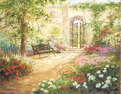 Victorian Garden From The Victorian Era Victorian Gardens Courtyard Garden Vintage Garden Parties