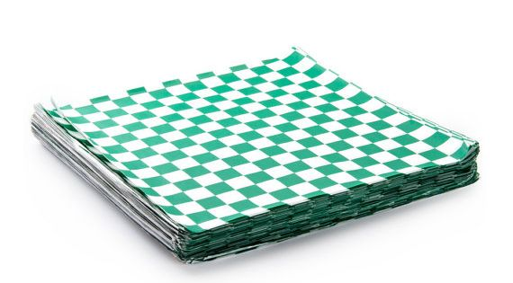 Safe Site Checker >> 48 Green and White Checker Sandwich Wrap, Food Basket Liner, Food Safe Paper, Checkered Paper ...