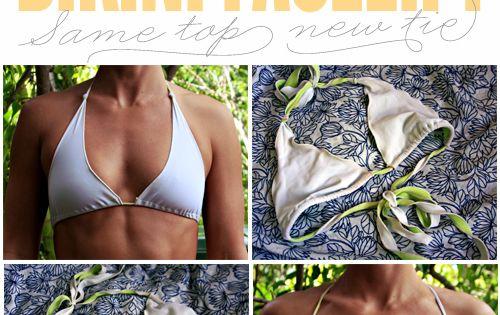 Bikini Facelift: Make it a wrap. | Goldfish Kiss. Brilliant! cool idea