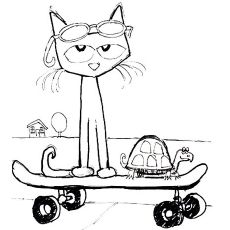 Pete With His Magic Sunglasses Coloring Pages Pete The Cat Cat Colors Cat Coloring Page