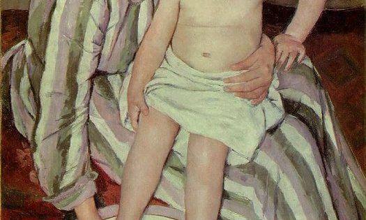 Mary Cassatt, The Child's Bath (The Bath), 1893, oil on canvas, Art