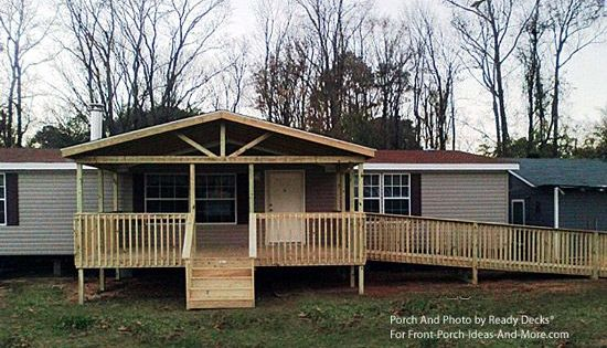 Front Porch Designs For Moblie Homes Mobile Home Porch