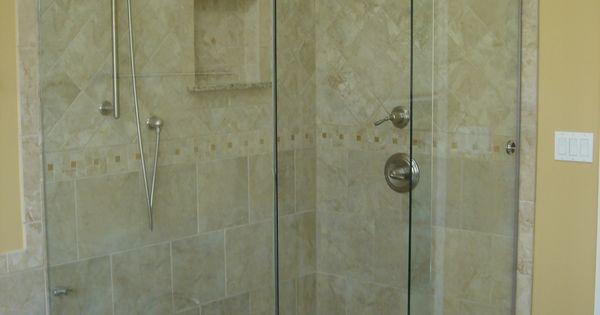 glass shower doors frameless | New Cardinal Skyline Series ...