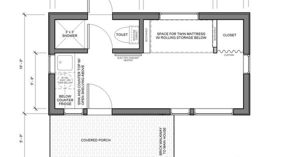 Portland Adu Tiny House Plan Cottage Pinterest