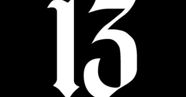 5 5 Number 13 Vinyl Decal Car Window Laptop Sticker Lucky Charm Gothic Evil Number 13 Tattoos Car Decals Vinyl Number 13