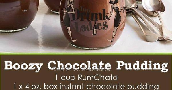 Boozy Chocolate Pudding #Rumchata #TwoDrunkLadies | Nom ...