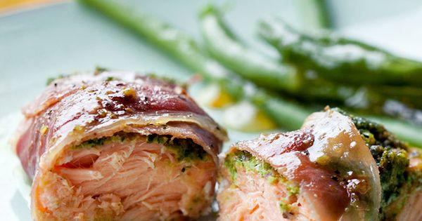Prosciutto, Salmon and Basil pesto on Pinterest