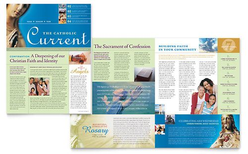 Catholic Parish And School Newsletter Template Design