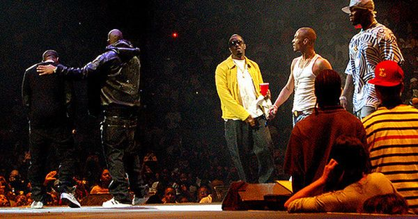 Jay Z T I 50 Cent And Kanye West On Stage Together
