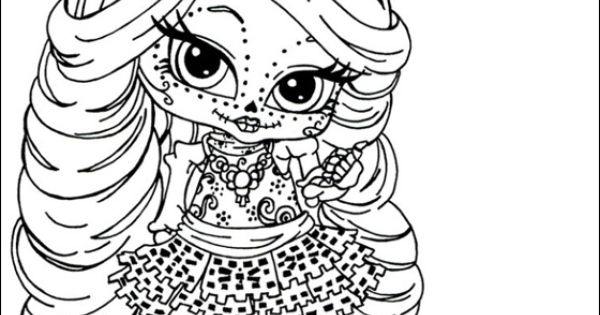 coloring pages monster high skull - photo#17