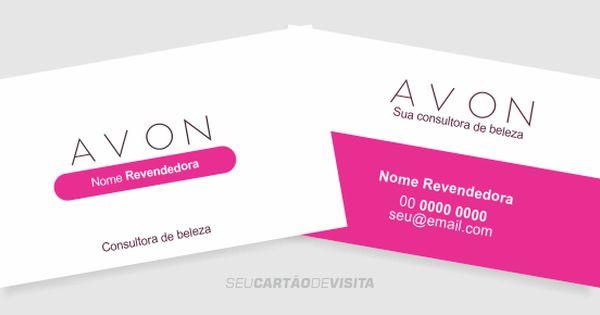 Cartao De Visita Avon Editavel E Bonito Download Gratis Cartao