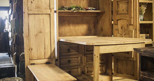 Chuck Wagon Armoire with Fold-Out Table and Benches - $692.00 | Dining Room | Pinterest | Best ...
