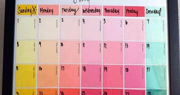 Ks Calendar Ideas To Make : How to make a diy paint chip calendar