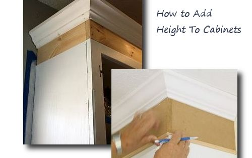 How to add height to cabinets furniture hardware for Adding hardware to kitchen cabinets