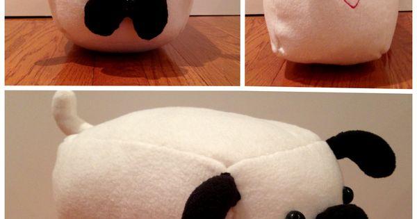 Animal Pillow Pinterest : DIY pug stuffed animal pillow with heart stitching (2013) DIY Pinterest Pillows, Stitch ...