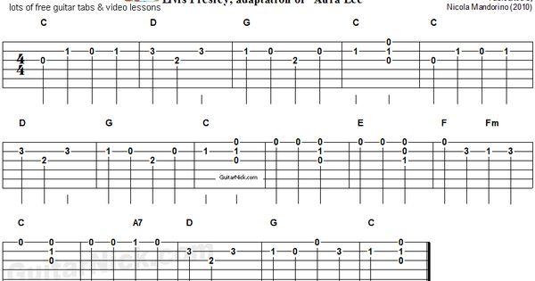 Love Me Tender Easy Song For Beginners Guitar Tab Video Lesson Music Pinterest More